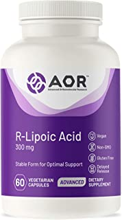 AOR, High Dose R-Lipoic Acid, Healthy Aging Antioxidant to Support Metabolic and Neurological Systems, 300 mg, Delayed Rel...