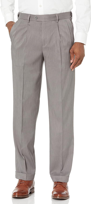 Savane Men's Double Pleated Stretch Melange Pant