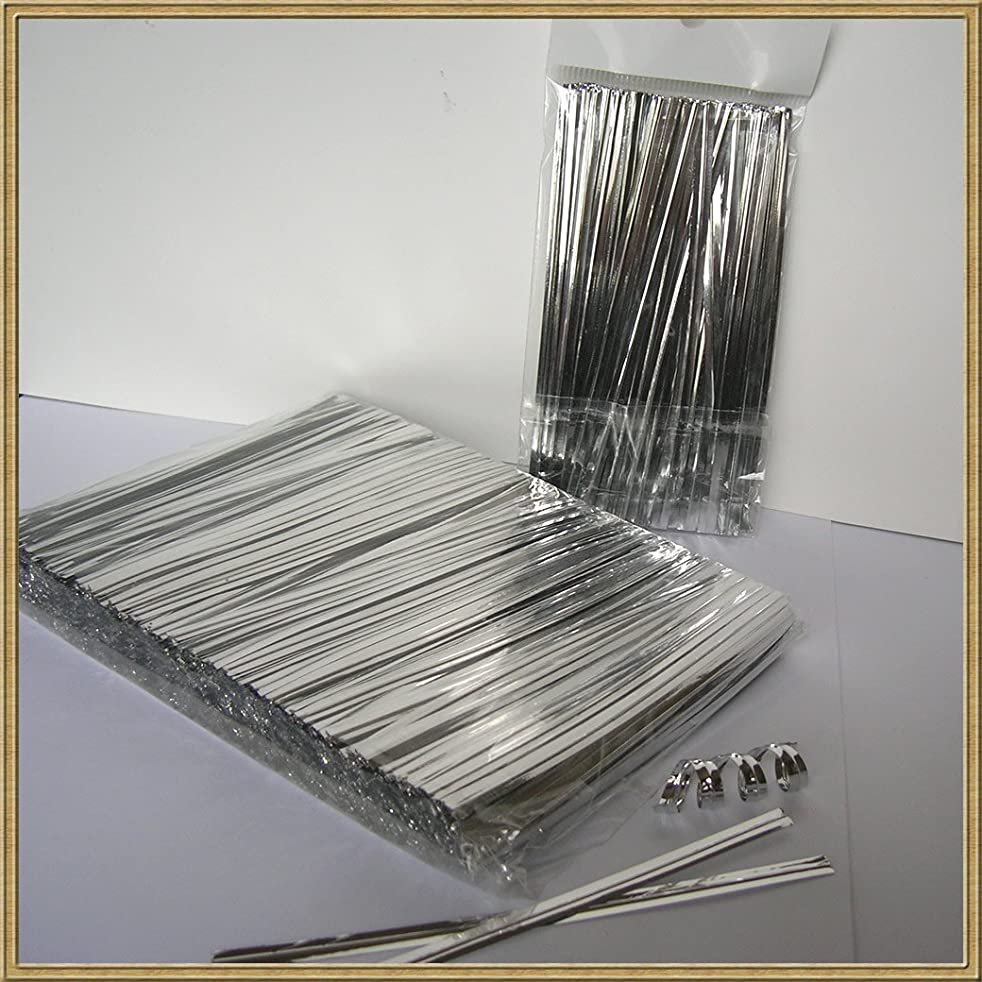 Weststone - 200pcs Metallic Twist Ties foil Twist Ties for Cello Bags Treat Bags in Birthday Party Wedding Party (Silver)