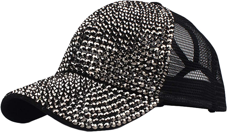 Unisex Rhinestone Mesh Trucker Hat Baseball Milwaukee Mall Cap Hip-hop S Max 72% OFF Sequin