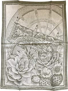 1 piece cloth cloth tablecloth various designs Made in Italy cotton linen natural 55x75 cm kitchen textile - Fico D'india