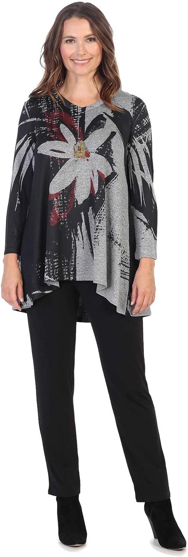 Jess Jane Women's Linda Slinky Luxury Top Low Tunic High 70% OFF Outlet Knit
