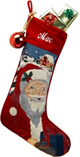 Needlepoint Christmas Stocking: Santa