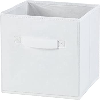 H & L Russel - Caja Plegable de Almacenamiento, con diseño Tejido, tamaño Grande, Color Blanco (30 x 30 x 30 cm): Amazon.es: Hogar