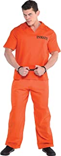 AMSCAN Jail Bird Prisoner Halloween Costume for Men, Standard, with Included Accessories