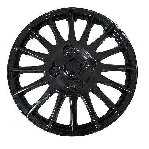 XtremeAuto® 14 Race Sport Black Car Wheel Trim Hub Cap Covers Multi-
