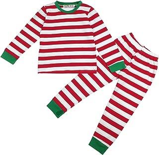 Baby Boys Girls Striped T-Shirt and Pants Sleepwear Winter Pajamas Sets