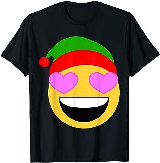 Christmas Santa Elf Hat Emojis Gift T-Shirt