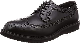 [グラベラ] ビジネスシューズ ドレスシューズ メンズ オンオフ兼用 疲れにくい ウィングチップ メダリオン 軽量 レースアップ 紐靴 スムース エナメル ブラックスムース