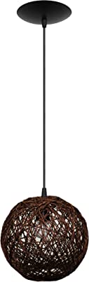 Pendente Hand Made, Cromalux, 301404, 20 W, Marrom/Preto