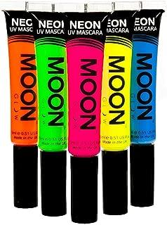 Moon Glow - Blacklight Neon Mascara 0.51ozSet of 5 colors– Glows brightly under Blacklights / UV Lighting!