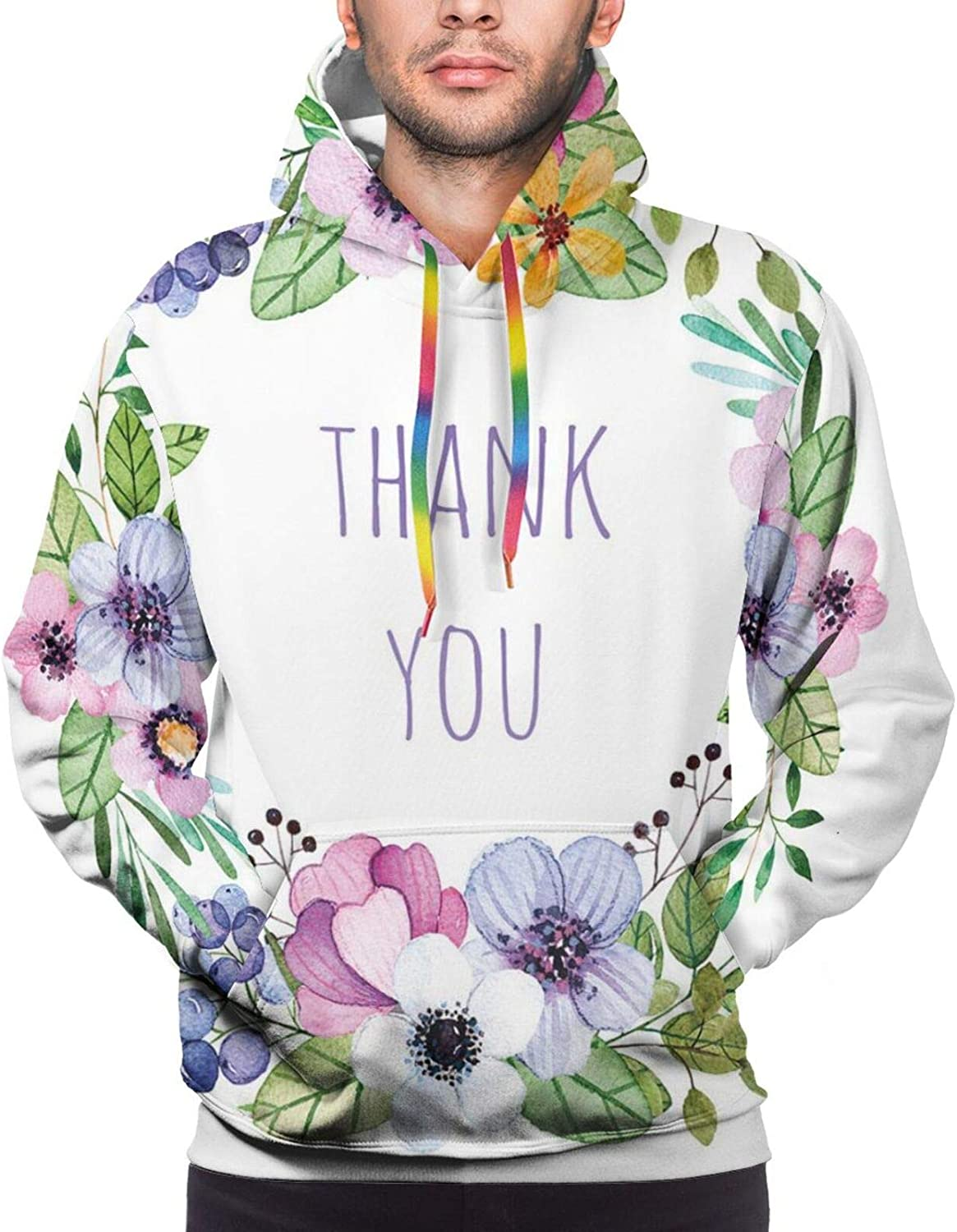 Men's Hoodies Sweatshirts,Beautiful Serenity Trees Track Path Garden Leaves and Grass Sunny Skies Photography