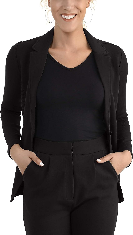 Seek No Further by Fruit of the Loom Women's Soft Stretch Long Sleeve Blazer