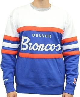 Mitchell & Ness Denver Broncos NFL Head Coach Men's Premium Crew Sweatshirt