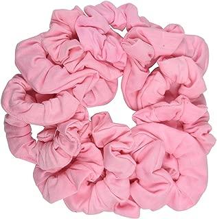 12 Pack Solid Hair Ties Scrunchies - Light Pink