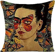 """JLHua Frida Kahlo Self-Portrait Cotton Linen Pillow Case Cover,18"""" ,Color 32"""