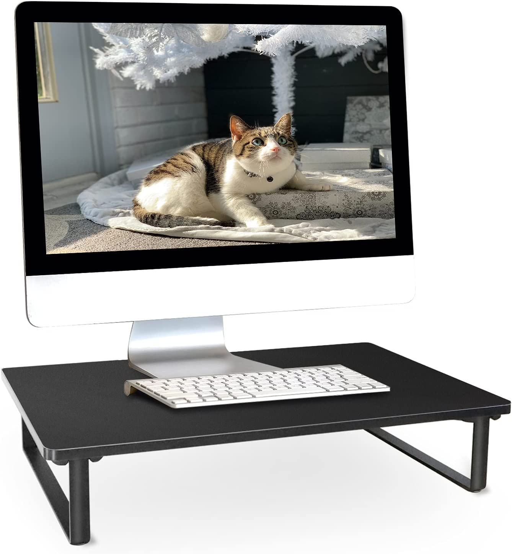 Monitor Stand for Desk Wood Anti-Slip Monitor Riser Desk Stand 15.6