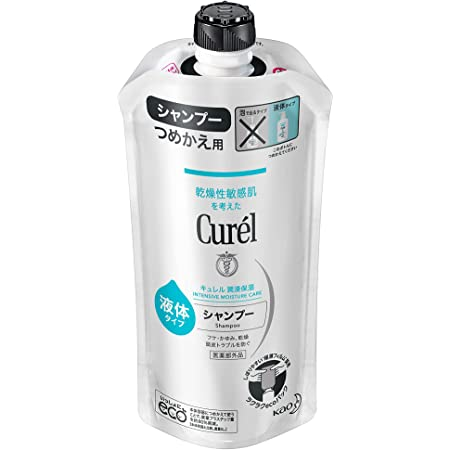 キュレル シャンプー つめかえ用 340ml (赤ちゃんにも使えます) 弱酸性 ・ 無香料 ・ 無着色