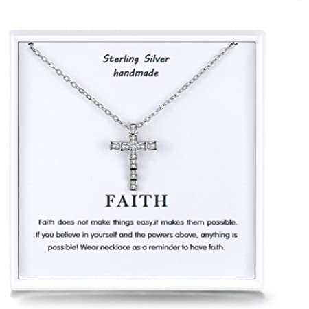 Details about  /Sterling Silver Medium Cubic Zirconia Cross Pendant