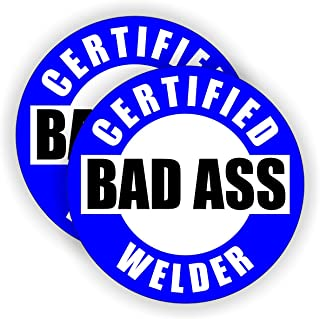 Bad Ass Welder Hard Hat Sticker / Helmet Decal Label Lunch Tool Box
