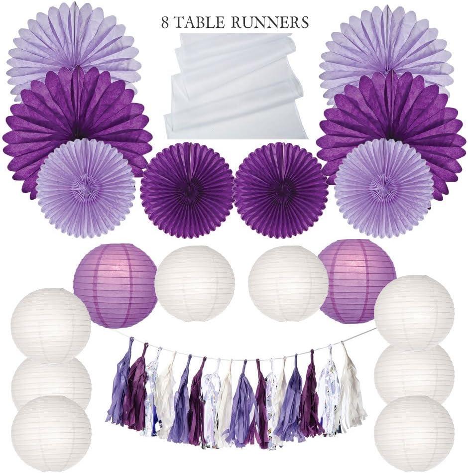 新作からSALEアイテム等お得な商品満載 Luna Bazaar Grape Crush Party Decoration - Ta Paper 2020 Kit Includes