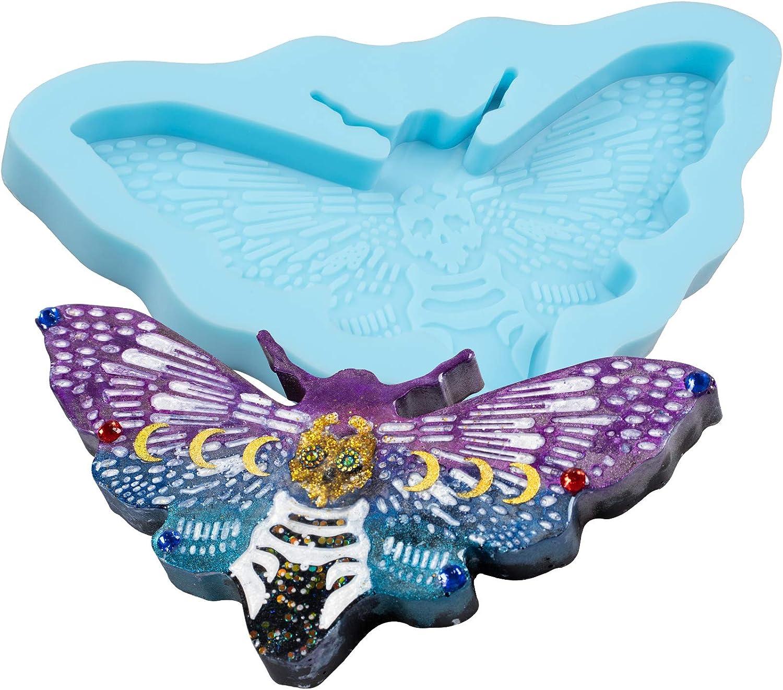 FUNSHOWCASE Death's Head Moth Max 54% OFF Bargain Epoxy Gothic Mold N Resin Silicone