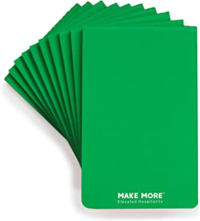 Pack of 10 Green Revenue Booster Notepads for Restaurant Waitress & Waiter, Perfect for Optimized Order Taking, 80 Lined Pages, 40 Sheets, Brand Launch Deal (14.95 List Price)