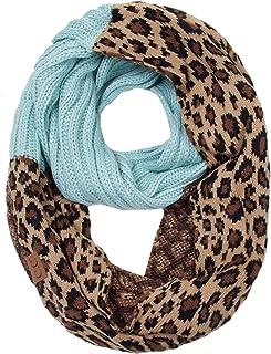 ScarvesMe Women's Animal Cheetah Print Infinity Loop Winter Fall Warm Scarf