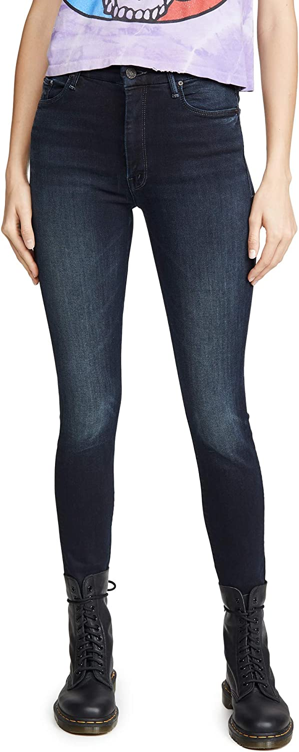 MOTHER Women's High Waisted Looker Ankle Fray Jeans