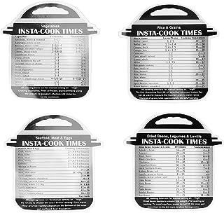4 szt. Ściągawka z czasu gotowania Instantpot, przewodnik po magnetycznych czasach gotowania(Art Paper)
