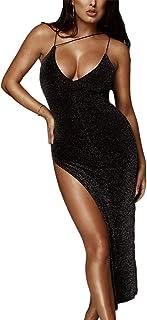 73856fcd23388 Limtery Women's Sexy Elegant Sparkly Bodycon Party Bodysuit Dress Clubwear
