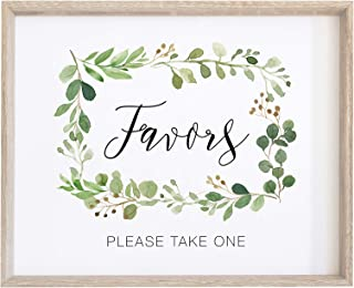 2 City Geese Wedding Favors Sign   Watercolor Greenery with Eucalyptus Print on Thick Cardstock Paper   Please Take One Wedding Decoration NOT Framed   (1) 8x10 Sign