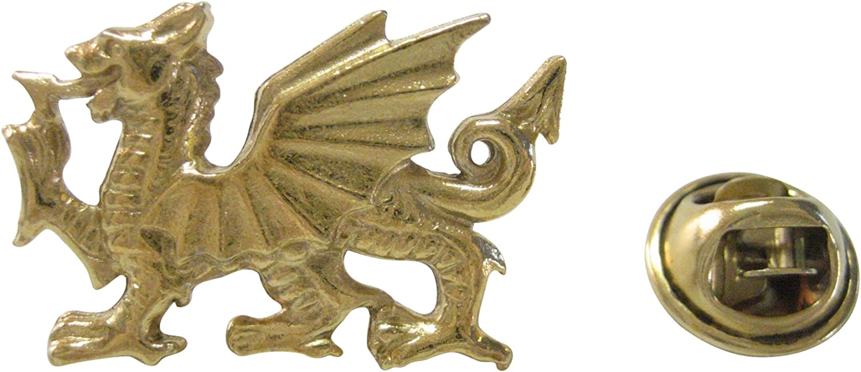 Kiola Designs Gold Toned Welsh Dragon Lapel Pin