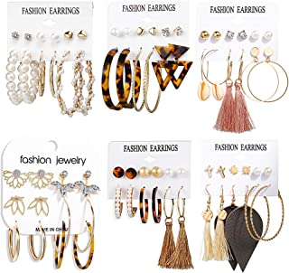 36 Pairs Fashion Tassel Earrings Set for Women Girls...