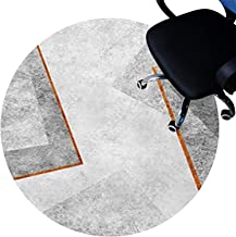 Office Chair Floor Protector mat, Floor Protector Mats, Short Pile Surface, Non-Slip Bottom, Scratch-Resistant Circle Rug ...
