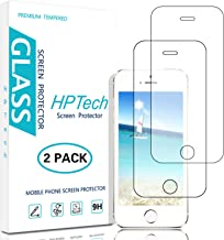 HPTech iPhone 5S 5 SE 5C Screen Protector - (2-Pack) Tempered Glass Film for Apple iPhone SE, iPhone 5S, iPhone 5, iPhone 5C with Lifetime Replacement Warranty