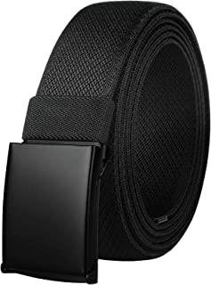 Drizzte Mens Plus Size 39 to 75inch Newest Comfortable Stretch Fabric Cloth Belt Black