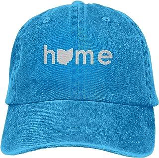 Home In Ohio State Washed Baseball Cap Trucker Hat Adult Unisex Adjustable Denim Cap