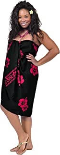 1 World Sarongs Women's Fringeless Hibiscus Sarong