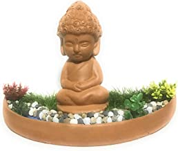 Baby Buddha (Natural Brown) Meditating Besides a Water Stream