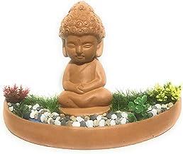 Baby Buddha (Natural Brown) Meditating Besides a Water Stream