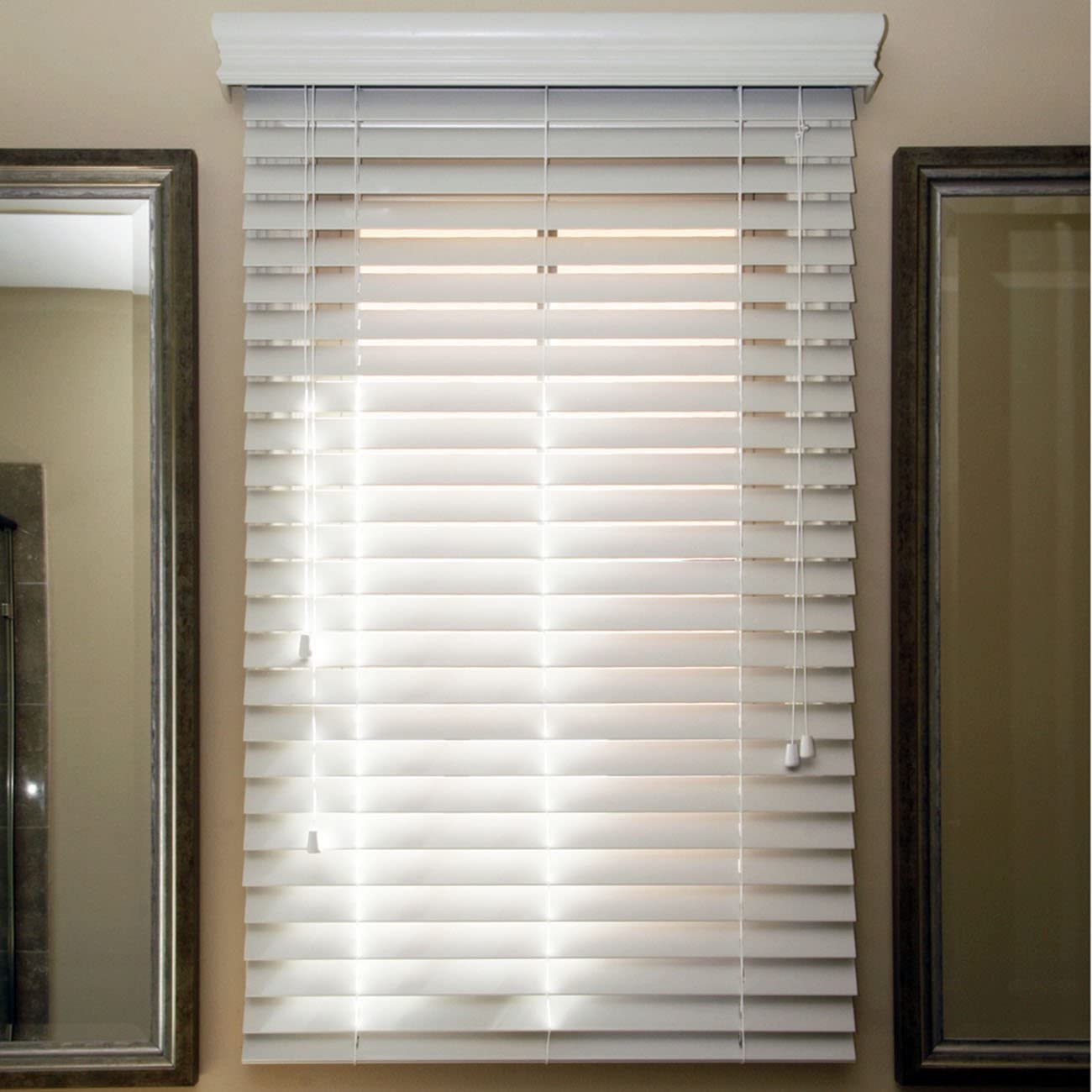 Chicology Trust Faux Wood Blind Realistic Max 84% OFF Whi Sugar Look White