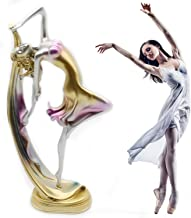 H&W Graceful Dance Movements, Beautiful Dancer Statue, Colorful, Best Gift for Girl, Home Decoration, Desk Ornament(HH8-D2)