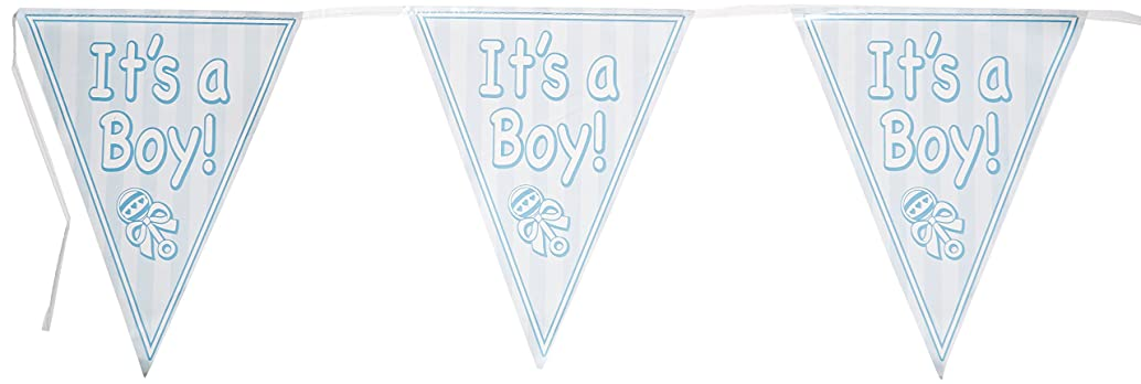 It's A Boy Pennant Banner Party Accessory (1 count) (1/Pkg)