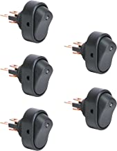 5pc 12V DC 30A 3-Pin SPST LED On/Off Rocker Switches - Blue