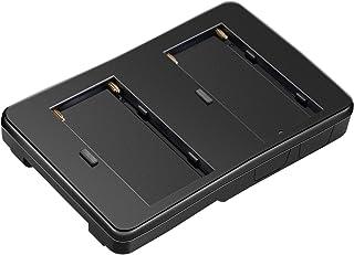 Neewer NP-Fバッテリー―Vマウントバッテリーコンバータアダプタ LEDライト、フィールドモニター、5D2リグ用 Sony Vマウントギア用代替バッテリーオプション 2パックSony NP-F970/NP-F770/NP-F570バッテ...