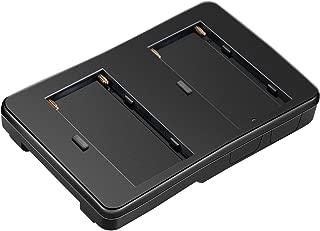 Neewer NP-F Battery to V-Mount Battery Converter Adapter for LED Light, Field Monitor, 5D2 Rigs, Alternative Battery Option for Sony V-Mount Gear, Fits for 2-Pack Sony NP-F970, NP-F770,NP-F570 Battery