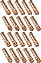 20 Stks Lassen Contact Tips Houders M6x0.8x25mm Rood Koper MIG MAG Gun Verbruiksgoederen Compatibel met MB15AK Euro Lassen...