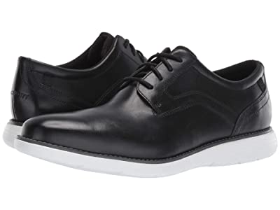 Rockport Garett Plain Toe (Black/White) Men