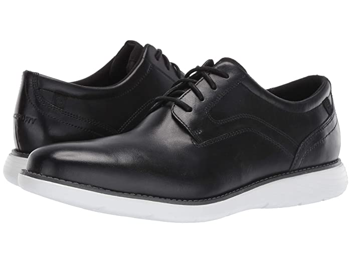 Rockport  Garett Plain Toe (Black/White) Mens Shoes